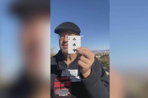 "Penn Jillette opens ""The Ambitious Card"" YouTube video, co-starring Teller with a total of 25 m ..."