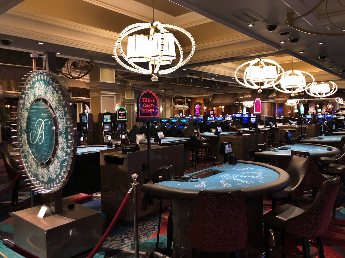 Table games are shut down within the Bellagio as MGM prepares to shut down casino operations at ...