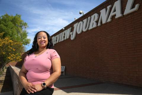 Cherisse Johnson, customer service and retention manager at the Las Vegas Review-Journal, was n ...