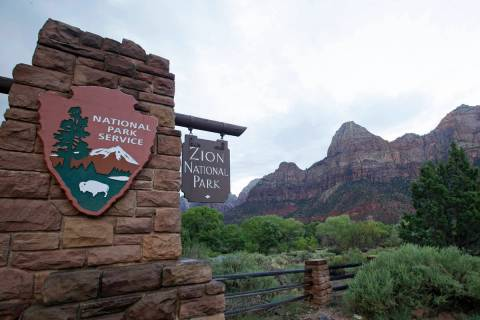 This Sept. 15, 2015, file photo, shows Zion National Park near Springdale, Utah. Zion National ...