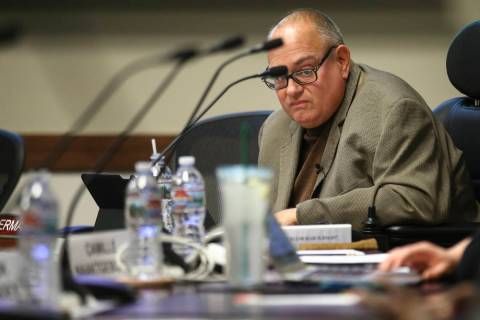 Nevada System of Higher Education Regent Sam Lieberman during a chancellor search committee mee ...