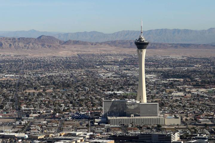 Wind gusts could reach 30 mph in the Las Vegas Valley on Saturday, April 4, 2020, according to ...