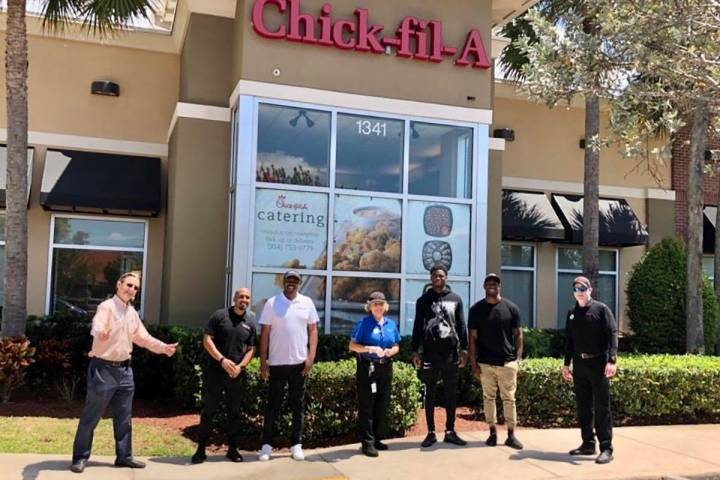 Nevin Lawson and Trayvon Mullen partnered up with Chick-fil-A on Monday to provide more than 25 ...