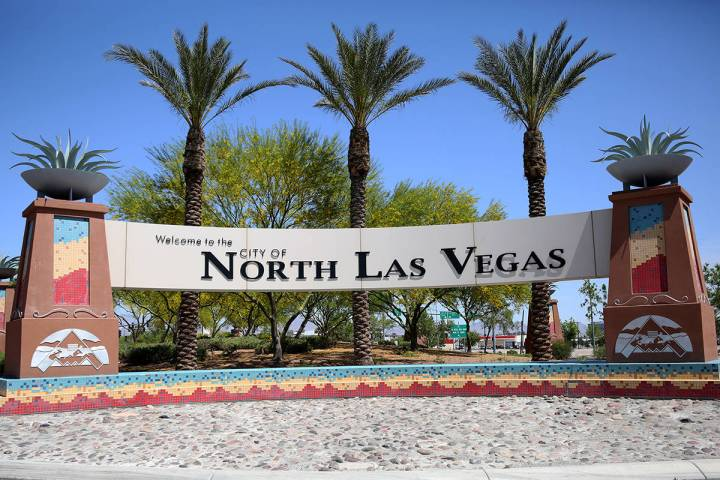 Welcome to the City of North Las Vegas sign photographed on Wednesday, April 25, 2018, in Las V ...