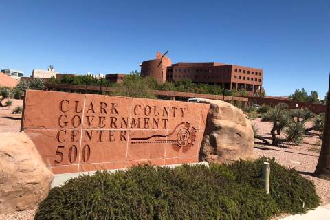 The Clark County Government Center in Las Vegas, on Wednesday, September 19, 2018. Mat Luschek/ ...