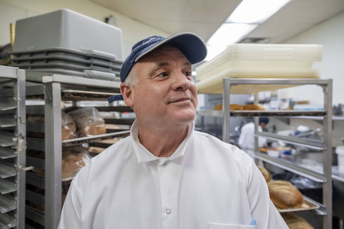 Michael Weiss, chef and owner of Weiss Deli and Bakery, is photographed in the kitchen of the d ...