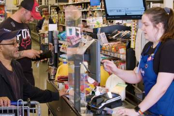 Smith's Food & Drug is using infared technology to control how many customers are in its Sout ...