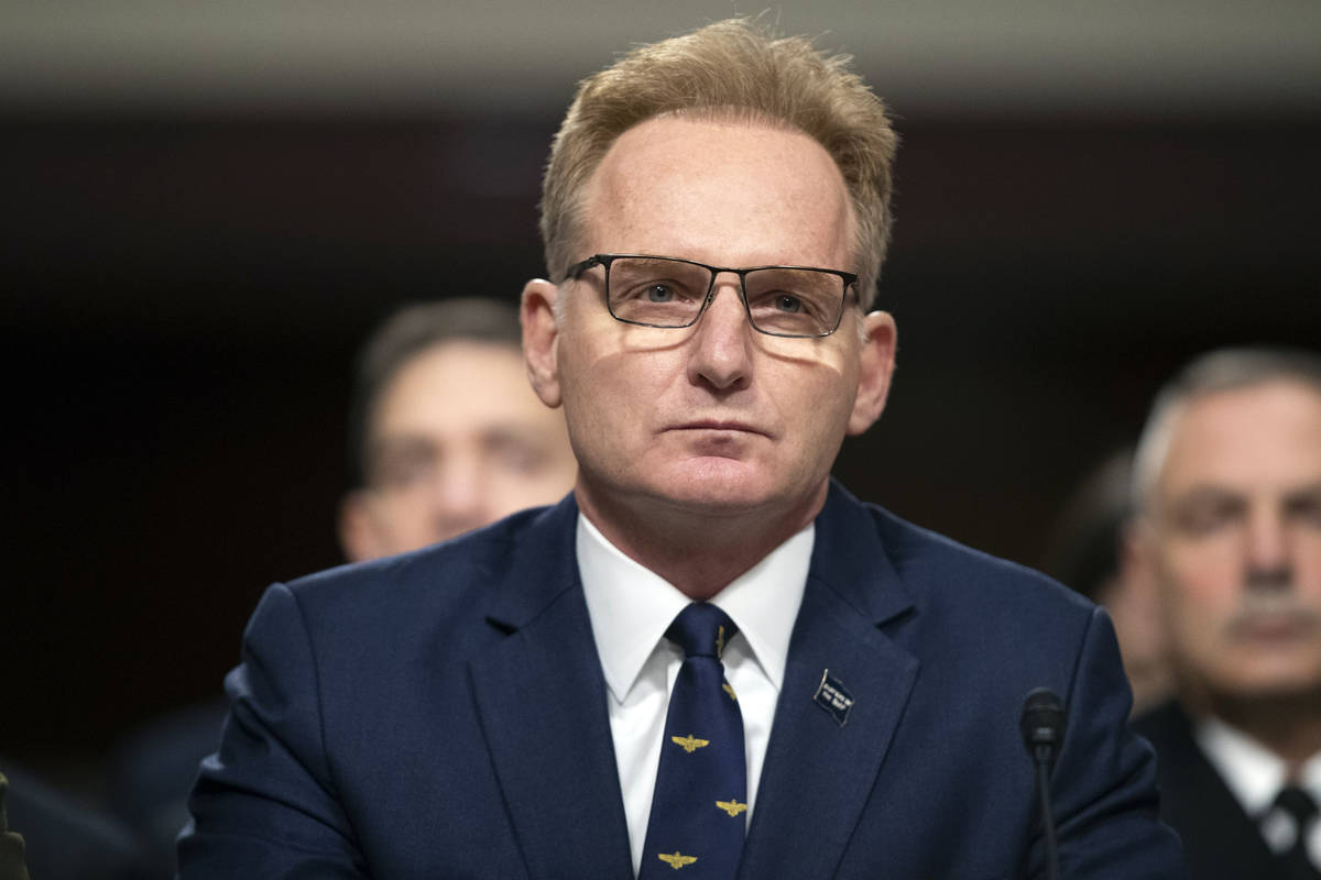 Acting Navy Secretary Thomas Modly testifies during a hearing of the Senate Armed Services Comm ...