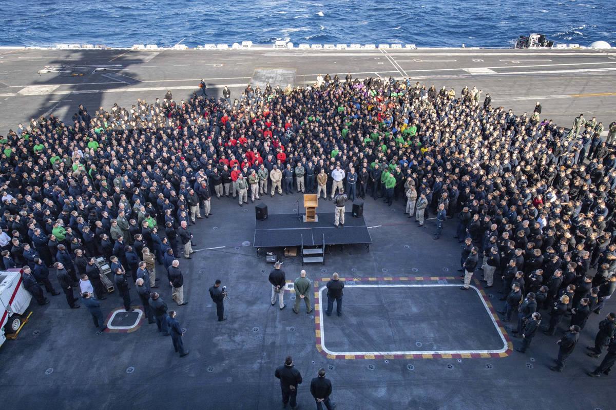 U.S.Navy Capt. Brett Crozier, commanding officer of the aircraft carrier USS Theodore Roosevelt ...
