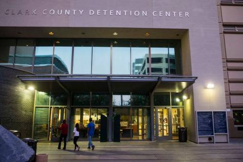 Clark County Detention Center in downtown Las Vegas (Chase Stevens/Las Vegas Review-Journal) Fo ...