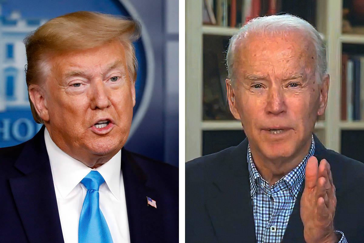President Donald Trump, left, and former Vice President Joe Biden (AP file photos)