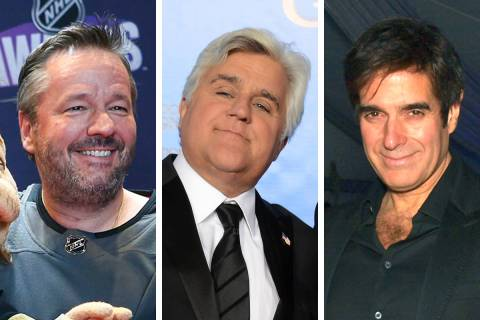 MGM resorts headliners such as Terry Fator, from left, Jay Leno and David Copperfield have help ...