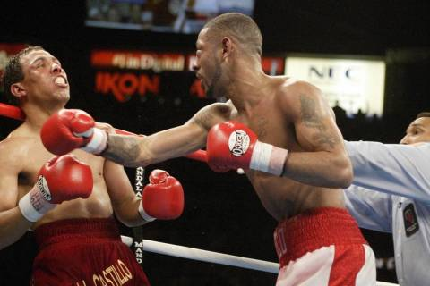 Official Tony Weeks, rights steps in after Diego Corrales lands his final punch on Jose Luis Ca ...