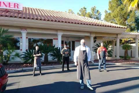 John Church and his team at Johnny C's Diner. (John Church)
