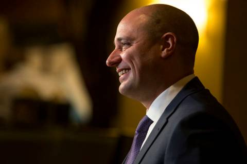 Matt Maddox the CEO of Wynn Resorts Ltd., during an interview with Review-Journal reporter Ric ...