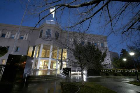 The Legislative Building in Carson City Saturday, Feb. 2, 2019. (K.M. Cannon/Las Vegas Review-J ...