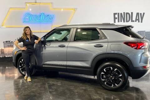 Findlay Chevrolet Marketing Director Joyce Balaoro poses with the all-new 2021 Chevrolet Trailb ...