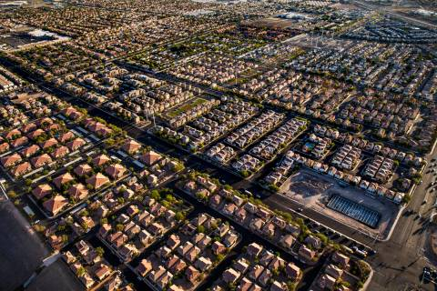 Las Vegas house prices were up from a year ago in April, but sales and listings are hurting. (L ...