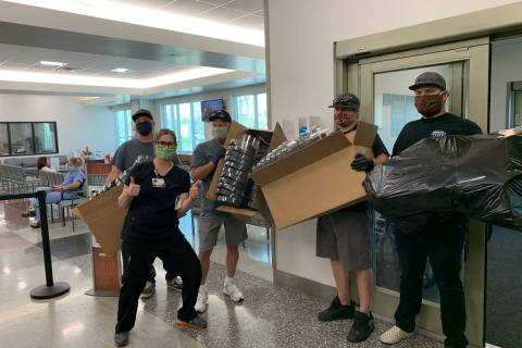 American Adventure Tours owner Rick Wyatt and his team have donated masks and face shields to s ...