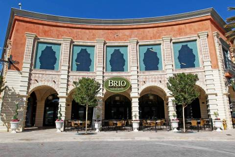 Brio Tuscan Grille at Tivoli Village is closing for good. (Las Vegas Review-Journal file)