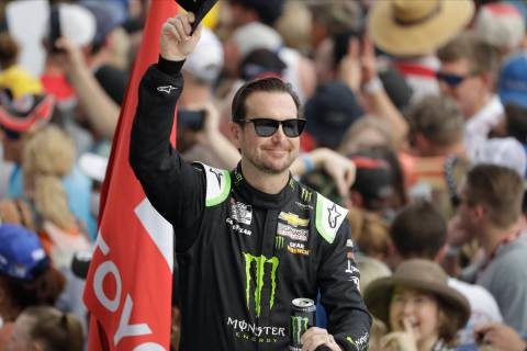 Kurt Busch before the NASCAR Daytona 500 auto race Sunday, Feb. 16, 2020, at Daytona Internatio ...