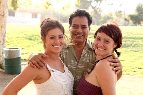 Luis A. Frias with his daughters Luisa Frias, right, and Lauren Frias. Luis Frias, 65, died of ...