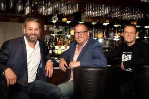 (Left to right) Evan Glusman, Chris Conlon and Wayne Jefferies, of Batch Hospitality, the team ...