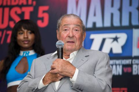 CEO of Top Rank Bob Arum during a boxing press conference in Los Angeles, Calif., on Wednesday, ...
