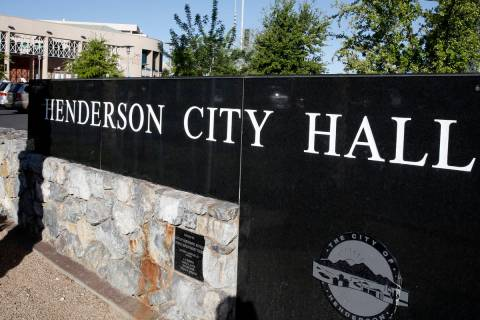 Henderson City Hall (Bizuayehu Tesfaye/Las Vegas Review-Journal)