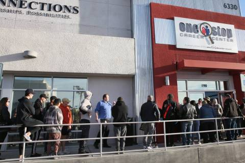 The unemployment rate in Nevada reached 28.2 percent in April, according to the Nevada Departme ...