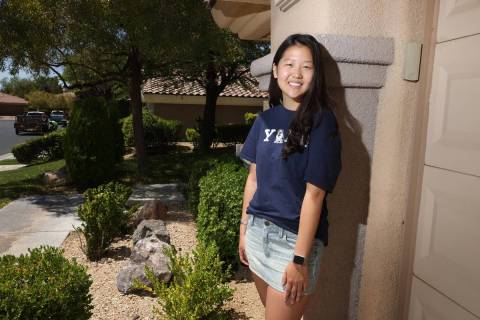 Demi Lee, 18, a senior at Coronado High School going to Yale University to study, at her home i ...