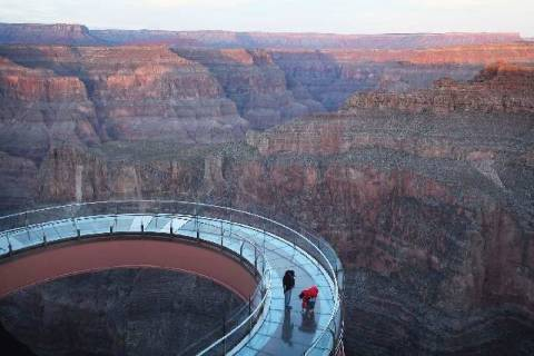 The Skywalk at Grand Canyon West (Las Vegas Review-Journal)