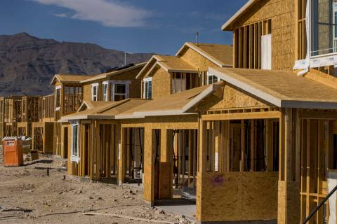 New home construction continues on the Alpha Ridge community project in the northwest Las Vegas ...