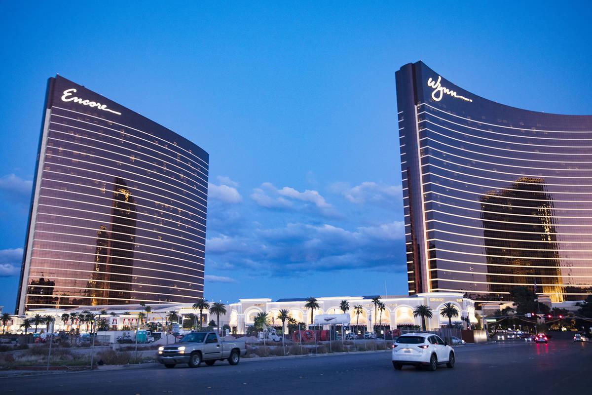 Encore and Wynn in Las Vegas on the Las Vegas Strip. (Rachel Aston/Las Vegas Review-Journal) @r ...