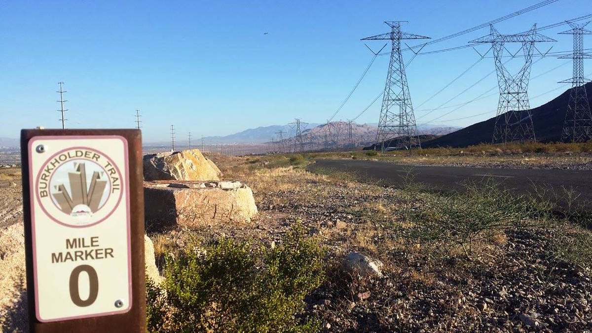 Mile zero is where Burkholder Trail meets the River Mountains Loop Trail. (Natalie Burt)
