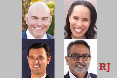 Candidates for Nevada System of Higher Education Board of Regents District 3 seat, clockwise fr ...