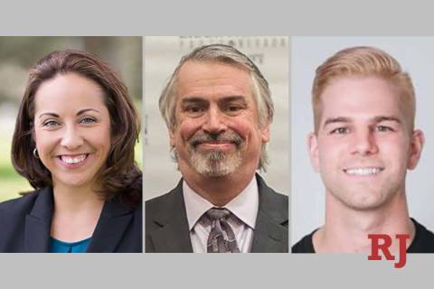 Nevada State Board of Education District 3 candidates: Felicia Ortiz, Bruce James-Newman and Ju ...