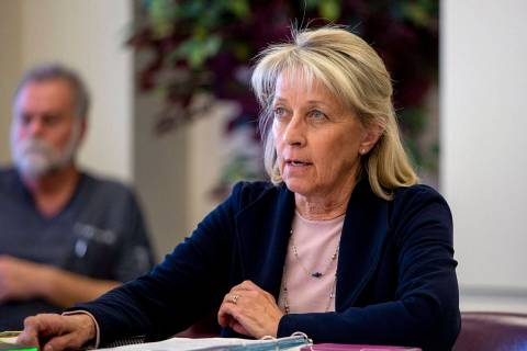 Nevada Secretary of State Barbara Cegavske, seen in 2019. (Elizabeth Page Brumley/Las Vegas Rev ...