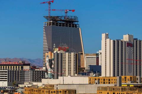 Construction continues on Circa resort on Tuesday, June 16, 2020, in Las Vegas. (Benjamin Hager ...