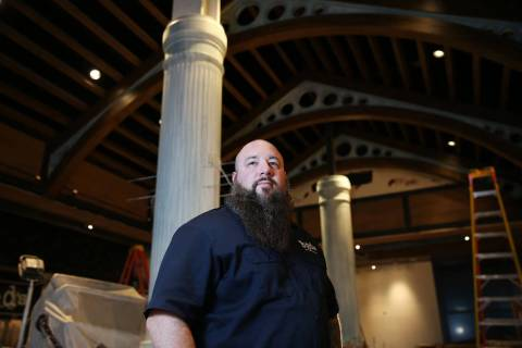 Chef Ralph Perrazzo inside the future BBD's restaurant at Palace Station hotel-casino in Las Ve ...