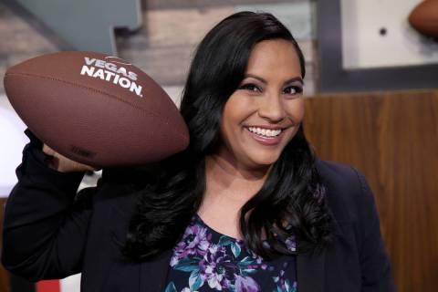 Vegas Nation team member Heidi Fang in the Las Vegas Review-Journal TV studio in Las Vegas Tues ...