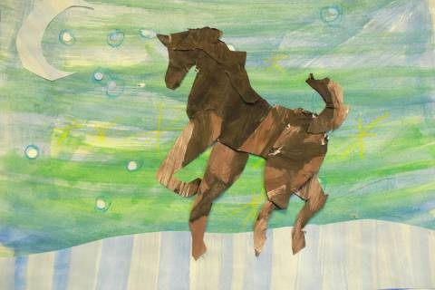 In a new exhibition showing at Nevada Humanities, children from Elko County used paints, ink an ...