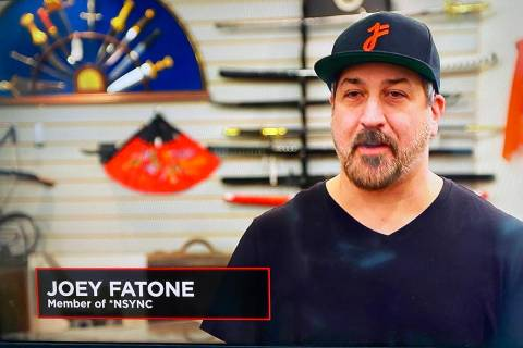 """A screen shot of Joey Fatone during his appearance on """"Pawn Stars,"""" which premiered Monday nigh ..."""