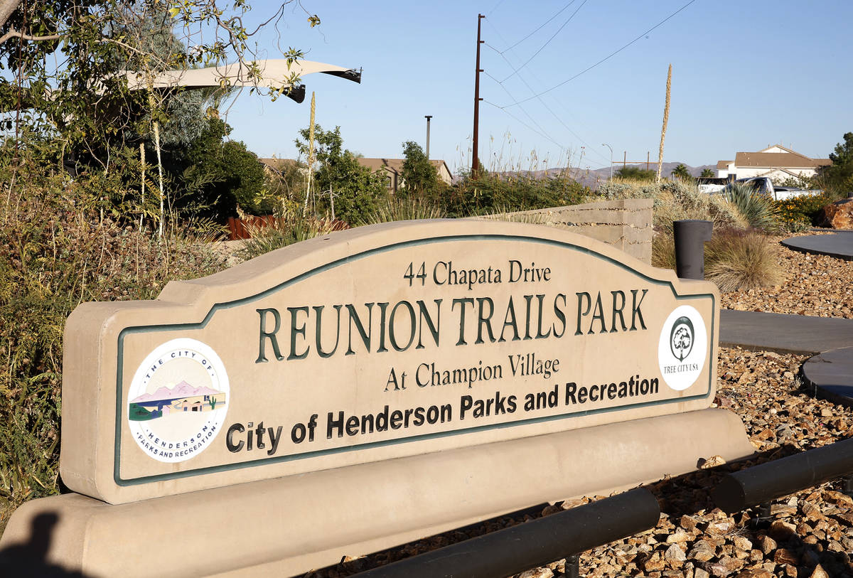 Reunion Trails Park Thursday, Oct. 26, 2017, in Henderson. (Bizuayehu Tesfaye/Las Vegas Review- ...