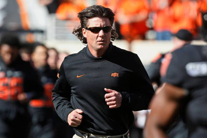 FILE - Oklahoma State coach Mike Gundy. (AP Photo/Sue Ogrocki, File)
