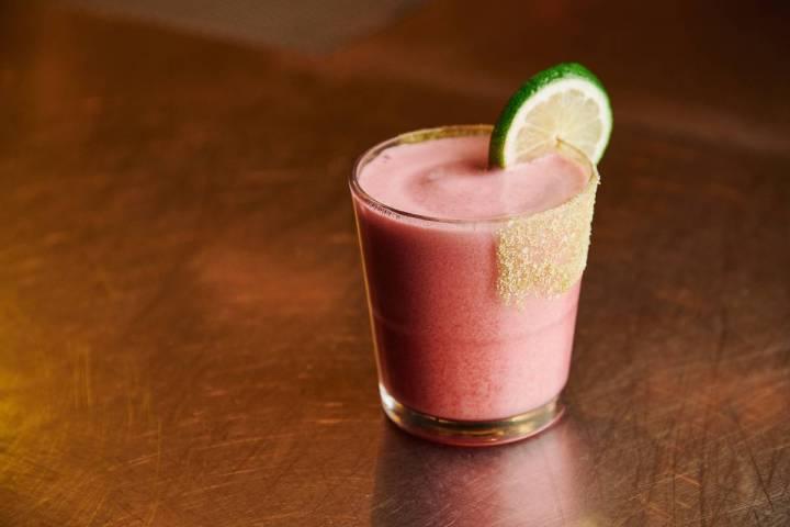 Raspberry lime margarita at Black Tap Craft Burgers & Beer. (Black Tap)