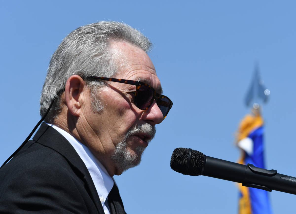 Charlie Myers, former Elko County Commissioner and Sgt. Ben Jenkins' uncle, eulogizes Sgt. Benj ...