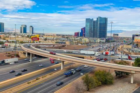 The Interstate 15-Tropicana Avenue interchange, seen Jan. 31, 2019, is set for a $200 million u ...