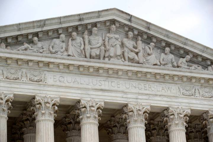The Supreme Court stands on on Capitol Hill in Washington, Monday, July 6, 2020.(AP Photo/Patri ...
