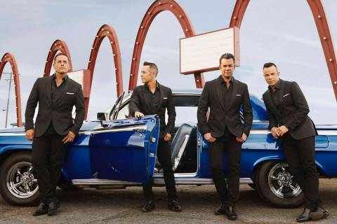 A promotional shot of Human Nature, celebrating their 10th anniversary as headliners on the Str ...
